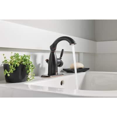 Sarona Single Hole Single-Handle Bathroom Faucet in Mediterranean Bronze