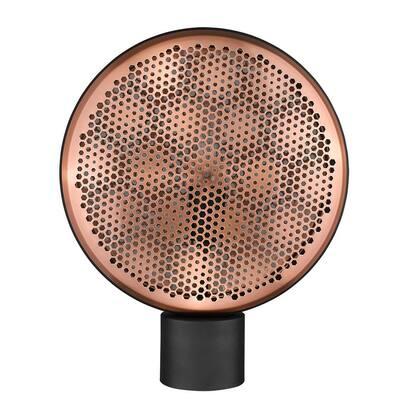 Tholos 16.5 in. 1-Light Matte Black Table Lamp
