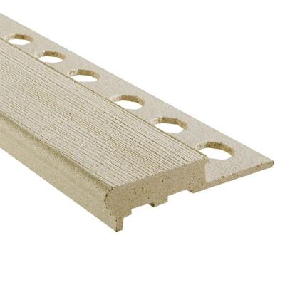 Novopeldano MaxiKenya Almond 1/2 in. x 98-1/2 in. Composite Maxi Stair Nosing Trim