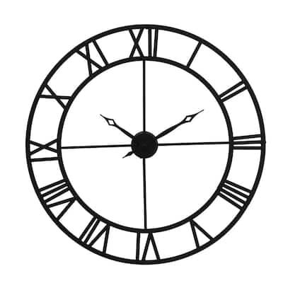 Rove Black Wall Clock
