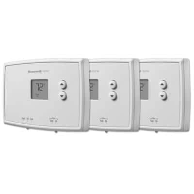 Horizontal Non-Programmable Thermostat (3-Pack)