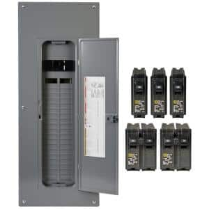 Homeline 200 Amp 40-Space 80-Circuit Indoor Main Breaker Plug-On Neutral Load Center with Cover - Value Pack