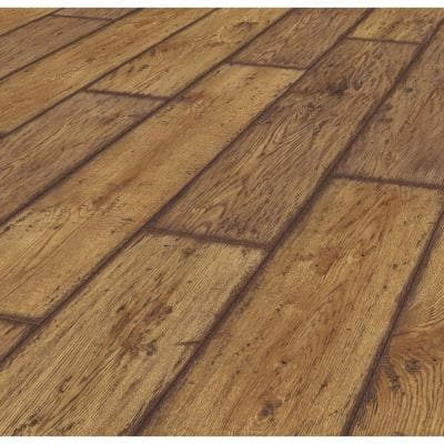 Rustic Brown Oak 12 mm Thick x 8.03 in. Wide x 47.64 in. Length Laminate Flooring (15.94 sq. ft. / case)