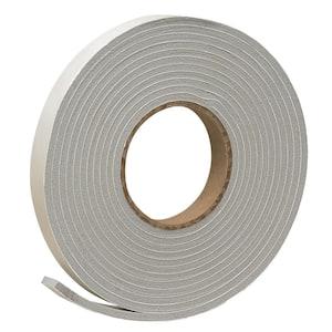 3/4 in. x 3/16 in. 17 ft. Grey Vinyl Foam Weather-Seal Self-Stick Tape