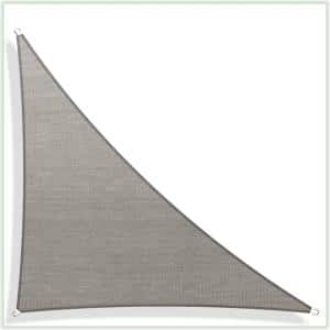 17 ft. x 12 ft. x 12 ft. 190 GSM Grey Right Triangle Sun Shade Sail Screen Canopy, Outdoor Patio and Pergola Cover