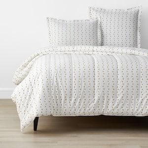 Company Organic Cotton Mini Prints Hearts Multi-Colored Full Cotton Percale Comforter