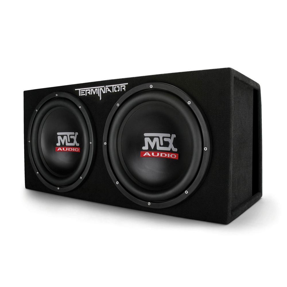 12 in. 2000-Watt Max Car Audio Dual Loaded Subwoofer Box Enclosure