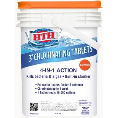 3 in. 35 lbs. (560 oz.) Pool Chlorinating Tablet