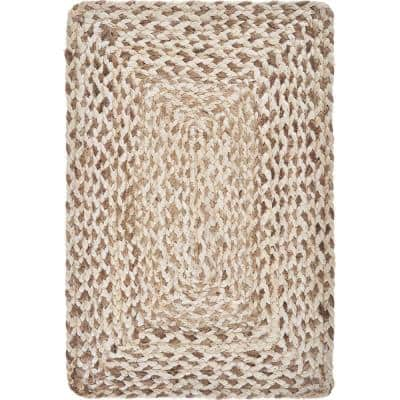 Woven Bleach / Natural 19 in. x 13 in. Jute Placemat (Set of 4)