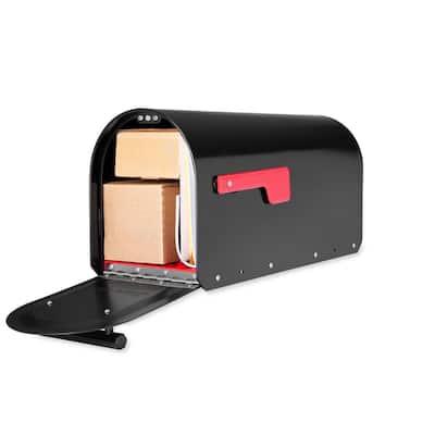Sequoia Black Heavy Duty Post Mount Mailbox