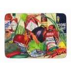 19 in. x 27 in. Spices and Crawfish Machine Washable Memory Foam Mat