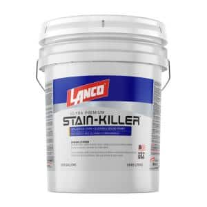 5 Gal. Stain Killer Ultra Premium White Interior/Exterior 100% Acrylic Wall Primer with Heavy Stain Elimination
