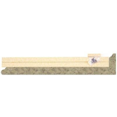 4-5/8 in. x 25-5/8 in. Laminate Endcap Kit in Golden Juparana with Full Wrap Ogee Edge