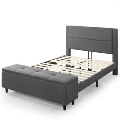 Wanda Platform King Bed with Storage Footboard
