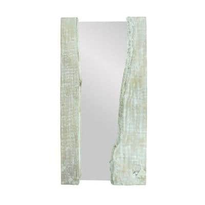 35.5 in. H x 1.3 in. W Medium Rectangle White Mirror