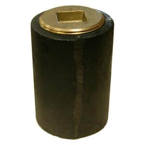 3 in. Plain End Cast Iron Cleanout Short Pattern with 2-1/2 in. Countersunk (Low Square) Southern Code Plug for DWV