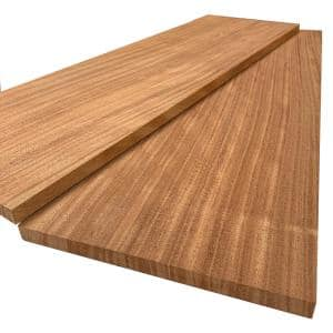 1 in. x 12 in. x 6 ft. African Mahogany S4S Board (2-Pack)