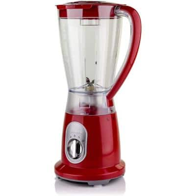 2-Speed Professional Blender with Pulse Operation, 50 oz 400-Watts, Stainless Steel Blades, Red