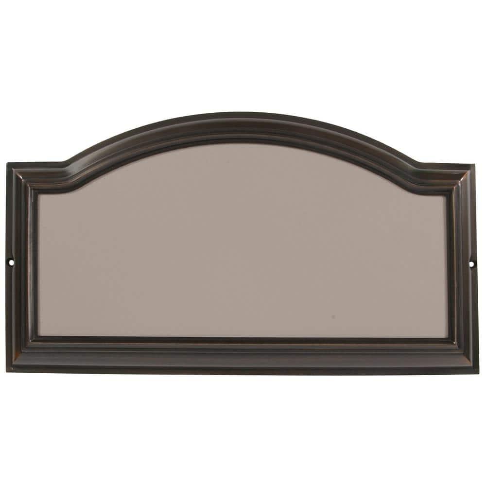 Everbilt Aged Bronze Address Plaque 31015 The Home Depot