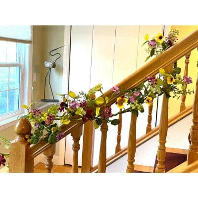 60 in. Multi Colored Artificial Floral Pansy Garland