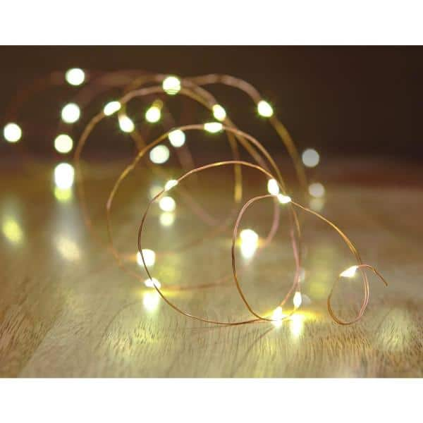 Hampton Bay Copper Wire Led Starry String Light Plug In Nxt 1009 The Home Depot