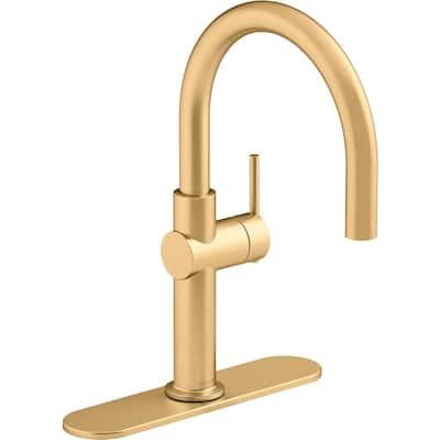 Crue Single-Handle Bar Faucet in Vibrant Brushed Moderne Brass