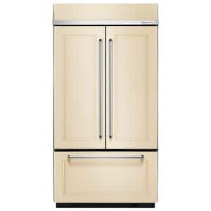 20.8 cu. ft. Built-In French Door Refrigerator in Panel Ready with Platinum Interior