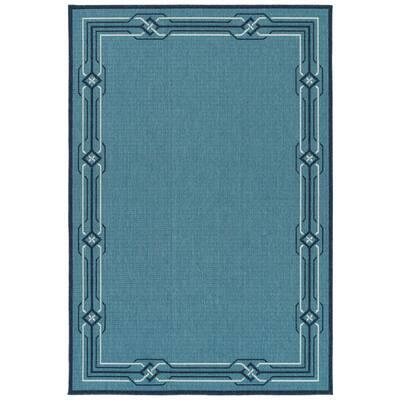 Amalie Light Blue 5 ft. x 7 ft. 6 in. Indoor/Outdoor Area Rug