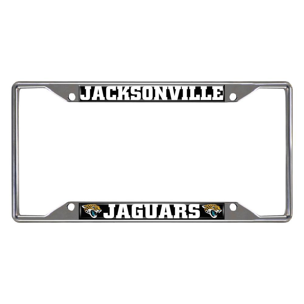 NFL - Jacksonville Jaguars Chromed Stainless Steel License Plate Frame