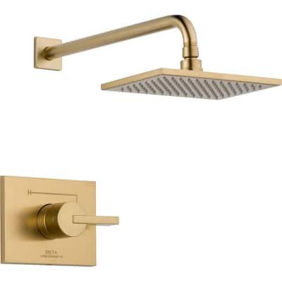 Vero 1-Handle 1-Spray Raincan Shower Faucet Trim Kit in Champagne Bronze (Valve Not Included)