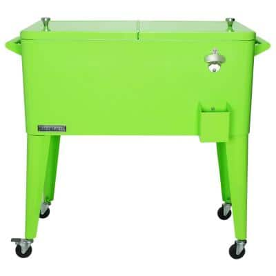 80 Qt. Rolling Patio Cooler Lime