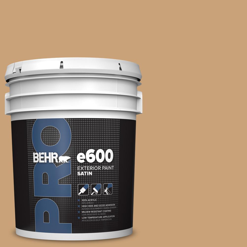 5 gal. #BXC-70 Fresh Sawdust Satin Exterior Paint