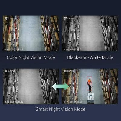 Wired Outdoor Wi-Fi AI-Powered Security Camera With Color Night Vision 2-Pack