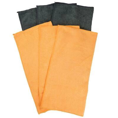 16 in. x 16 in. Multi-Purpose Microfiber Cloth (6-Pack)