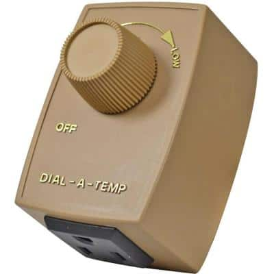 2.5-Amp Variable Speed Fan Control with Plug-in, Brown