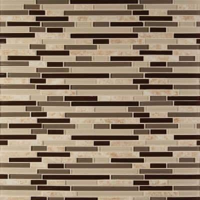 Amalfi Cafe Interlocking 12 in. x 12 in. x 6 mm Glass and Porcelain Mesh-Mounted Mosaic Tile (15 sq. ft./case)