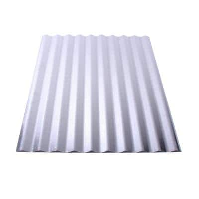 Corrugated 12 ft. 31G Galvanized Metal Roof Panel