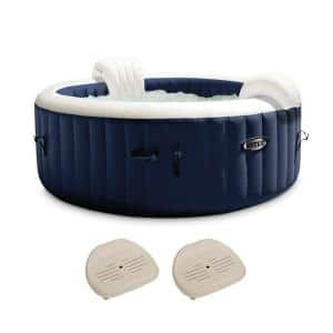 PureSpa Plus 6-Person Inflatable Hot Tub Bubble Jet Spa with 2-Seats, Navy