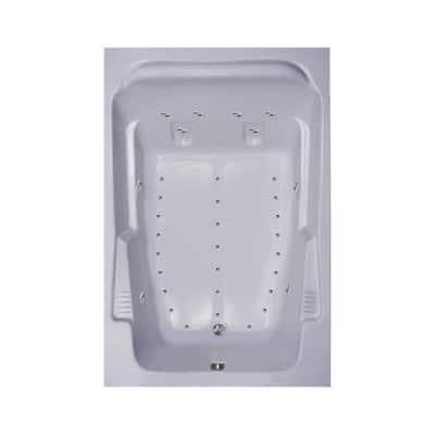 72 in. Acrylic Rectangular Drop-in Air Bathtub in White