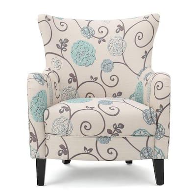 Arabella Multicolor Floral Fabric Club Chair
