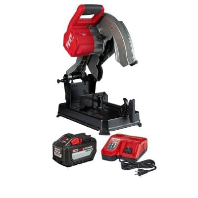 Milwaukee M18 FUEL 18-Volt Lithium-Ion Brushless Cordless 14 in. Abrasive Cut-Off Saw Kit w/ One 12.0Ah Battery