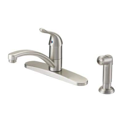 Impressions Collection Single-Handle Kitchen Faucet with Matching Side Spray in Brushed Nickel