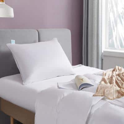 400-Thread Count White Soft Density Down Standard/Queen Size Pillow