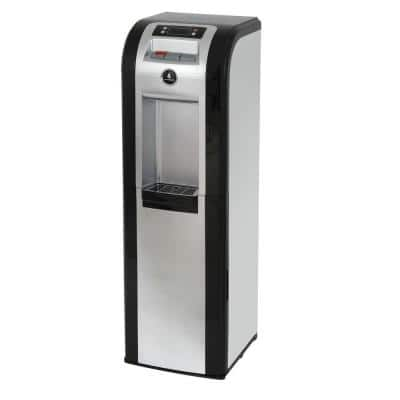 3-5 Gal. ENERGY STAR Hot/Room/Cold Temperature Bottom Load Water Cooler Dispenser with Kettle Feature in Black/Platinum