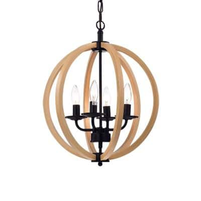Fedelmid 4-Light Black Pendant