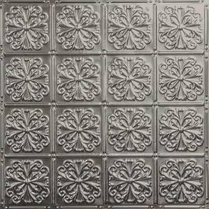 Pattern #27 24 in. x 24 in. Stainless Steel Tin Wall Tile Backsplash Kit (5 pack)