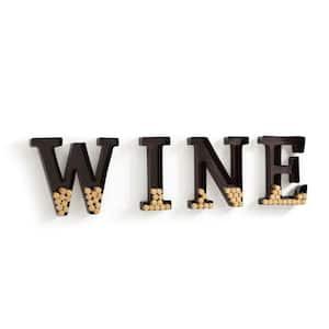 Wine Letters Metal Wall Mount Cork Holder
