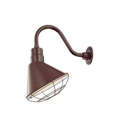 R Series 1 Light 13 in. Architectural Bronze Angle Shade