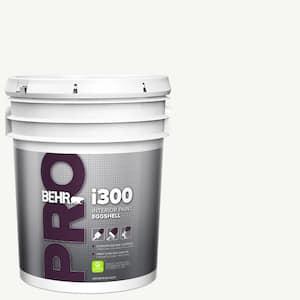 Behr Pro 5 Gal I300 White Eggshell Interior Paint Pr33005 The Home Depot