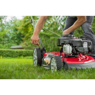 21 in. 140cc 500e Series Briggs & Stratton Engine 2-in-1 Gas Walk Behind Push Lawn Mower with High Rear Wheels